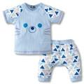 El bebé arropa 2017 Marca estilo embroma la ropa del verano fija la camiseta + pantalones traje de la ropa del dibujo animado recién nacido trajes del deporte