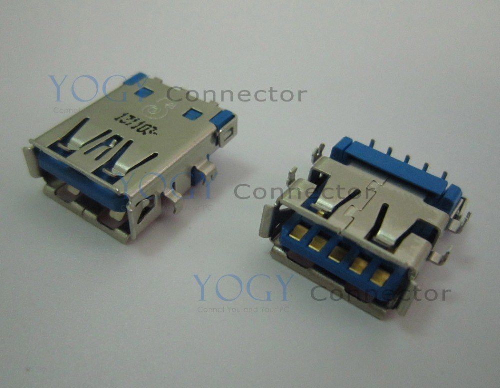 10pcs 17mm USB 3.0 jack fit for Asus U46E U46E-BAL7 series usb board and other laptop motherboard female usb3.0 connector