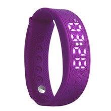Фитнес-браслет H5S портативный интеллектуальной деятельности Управление Часы сердечного ритма Мониторы умный Браслет расстояние калькулятор (фиолетовый)
