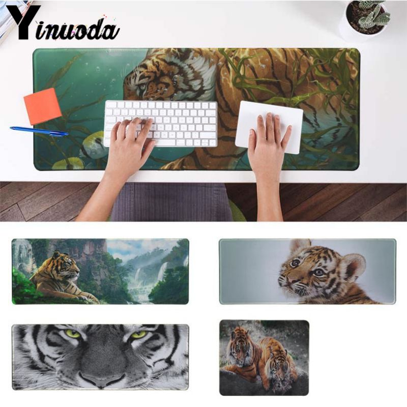 Yinuoda моё любимое животное тигр геймер Скорость мыши розничной маленький резиновый коврик Размеры для 18x22 см 20x25 см 25x29 см 30x90 см 40x90 см
