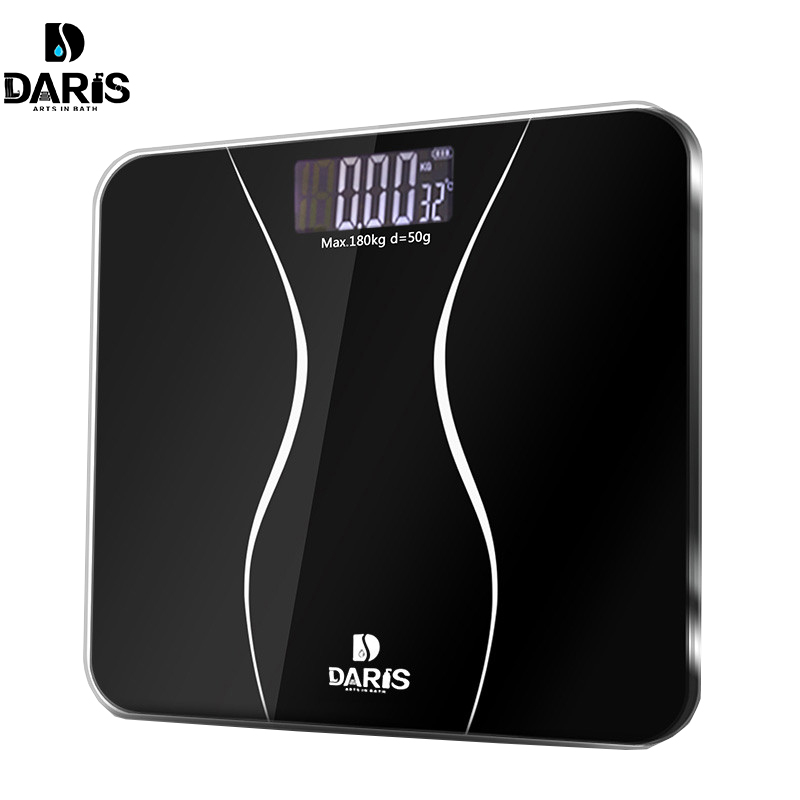 SDARISB Smart Household Glass Body Scales Floor Digital Bathroom Scale 0.01g Electronic Body Weight Scale LCD Display 180KG/50G pontoon21 trait 00 bt02 062