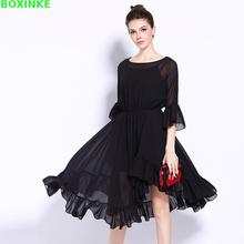 Vestidos Mujer Real Dress European And American High End Lotus For New Style Large Swing In The Long Loin Waist Two Pieces