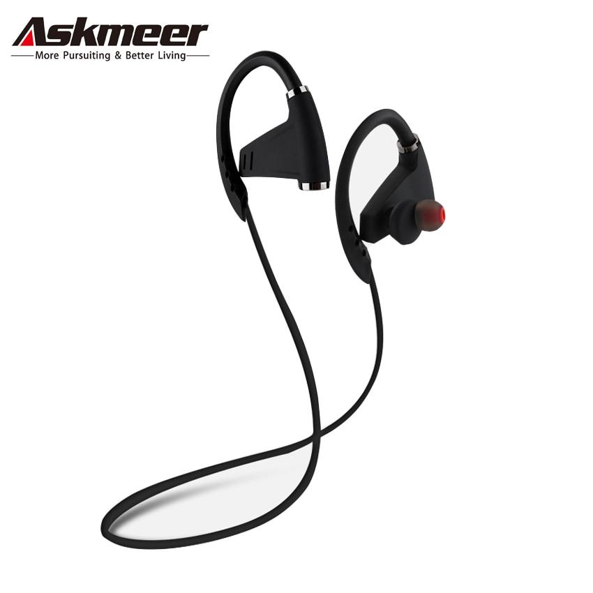 Askmeer U9 Wireless Bluetooth Earphones CSR 4.1 Stereo Sport Earbuds Runner Waterproof IPX4 Headset for iphone/samsung/Huawei