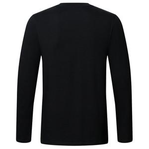 Image 4 - גבוהה באיכות כותנה t חולצה אביב סתיו אופנה גברים חולצה homme גברים ארוך שרוולים O צוואר מוצק מקרית חולצות חולצות Tees 2pcs