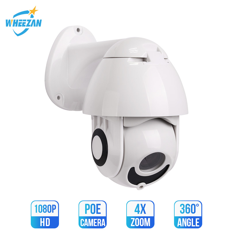Wheezan <font><b>ip</b></font> camera outdoor POE speed dome PTZ Camera 1080p 360 Pan 4x Zoom Night vision Onvif <font><b>imx323</b></font> cctv camaras vigilancia image