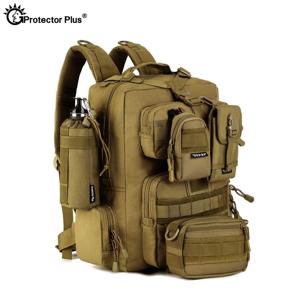 Protecteur PLUS militaire MOLLE sac à dos tactique pistolet sac désert patrouille sac à dos Camo chasse de haute qualité en plein air voyage armée - 2