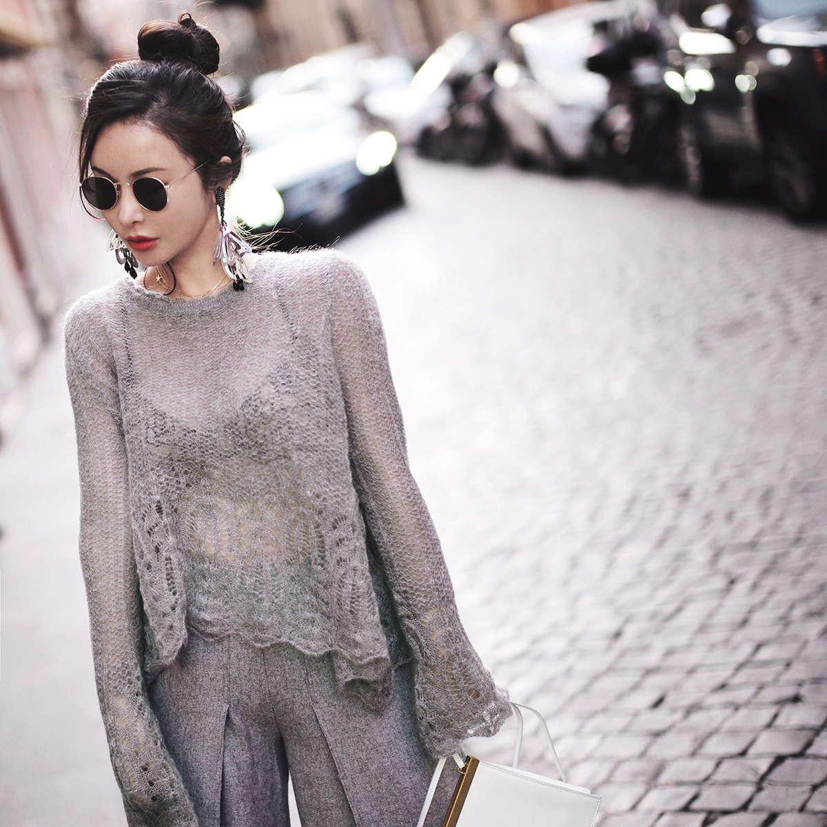 See Through Women Thin Pullover Sweater 2019 Autumn Korean New Solid Basic Knitted Sweater Female Hollow Out Knitwear SA171S50