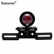 Motorcycle Rear Bullet Brake Tail Light With License Plate Mount Holder Black High Quality
