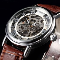 SEWOR Luxury Brand Mechanical Watches Men Skeleton Dial Clock Roman Casual Wristwatches Relogio Men Mechanical Hand