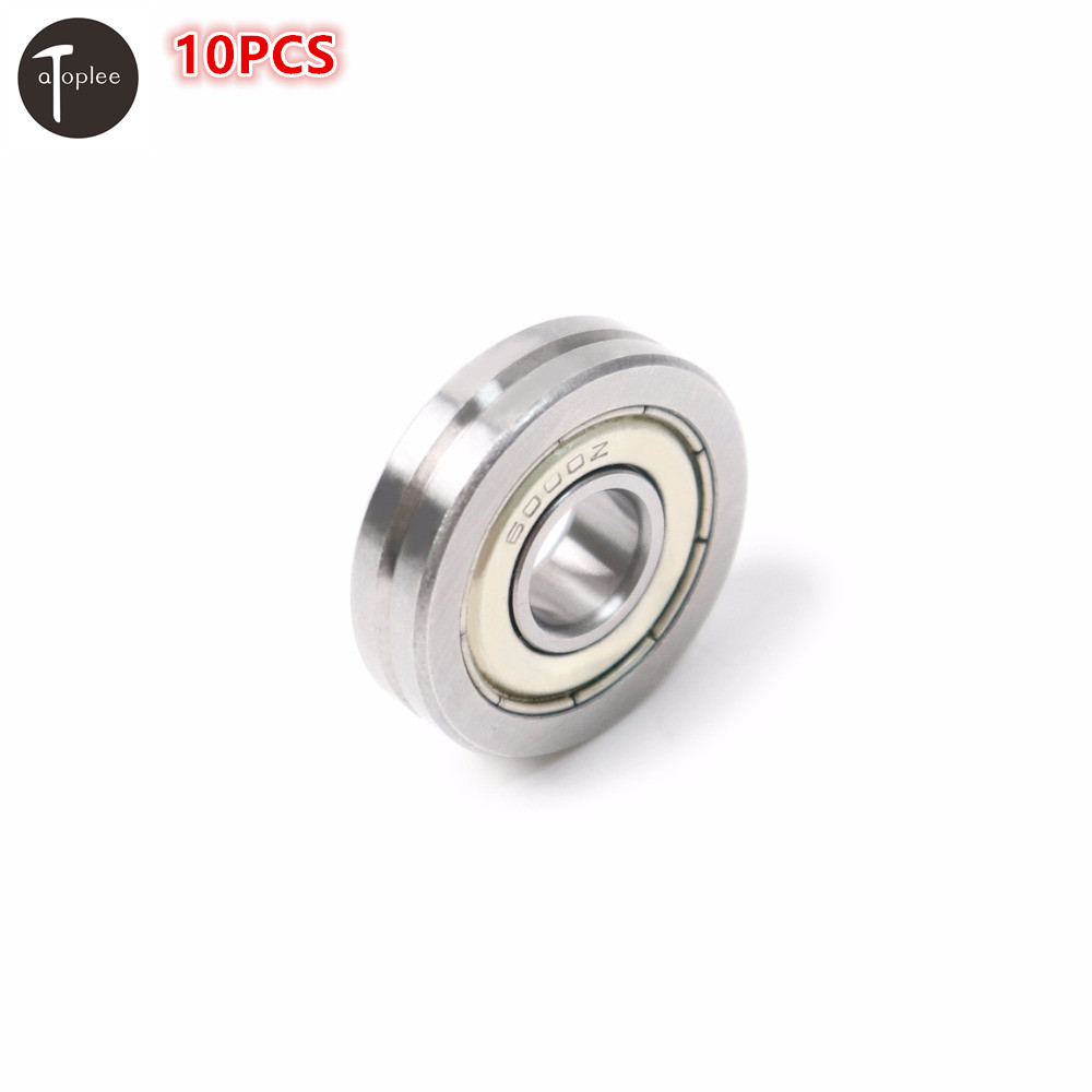 10PCS A1001-ZZ Deep V Groove Sealed Ball Bearing Bearing Steel Guide Line Wire Track Pulley Rail Ball Bearing Tool 10pcs 5x10x4mm metal sealed shielded deep groove ball bearing mr105zz