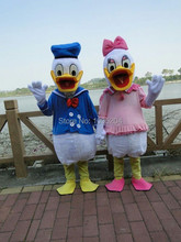 BING RUI CO High quality adult size Donald Duck Mascot Costume sales Donald and Daisy Mascot Costume Free Shipping