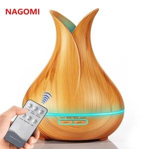 400 ML Aroma Difusor Óleo Essencial Pétala de Controle Remoto Elétrico Umidificador de Ar Para Home Office Com Luzes LED Coloridas