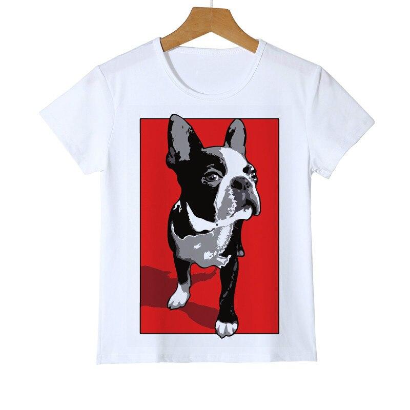 Детская забавная футболка с героями мультфильмов детские летние топы с котом, собакой, единорогом, одежда для маленьких мальчиков и девочек...