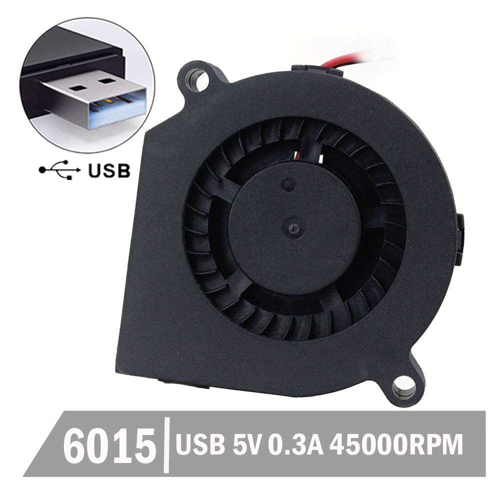 20PCS Gdstime 60x15mm 6cm 6015 <font><b>60mm</b></font> <font><b>5V</b></font> USB Computer DC Cooling Blower <font><b>Fan</b></font> Cooler image