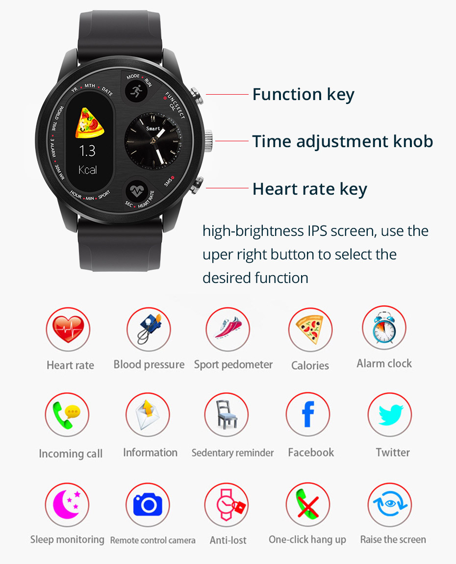 COLMI T3 Sport Hybrid Smart watch Stainless Steel Fitness Activity Tracker IP68 Waterproof Standby 15 Days BRIM Smartwatch 7