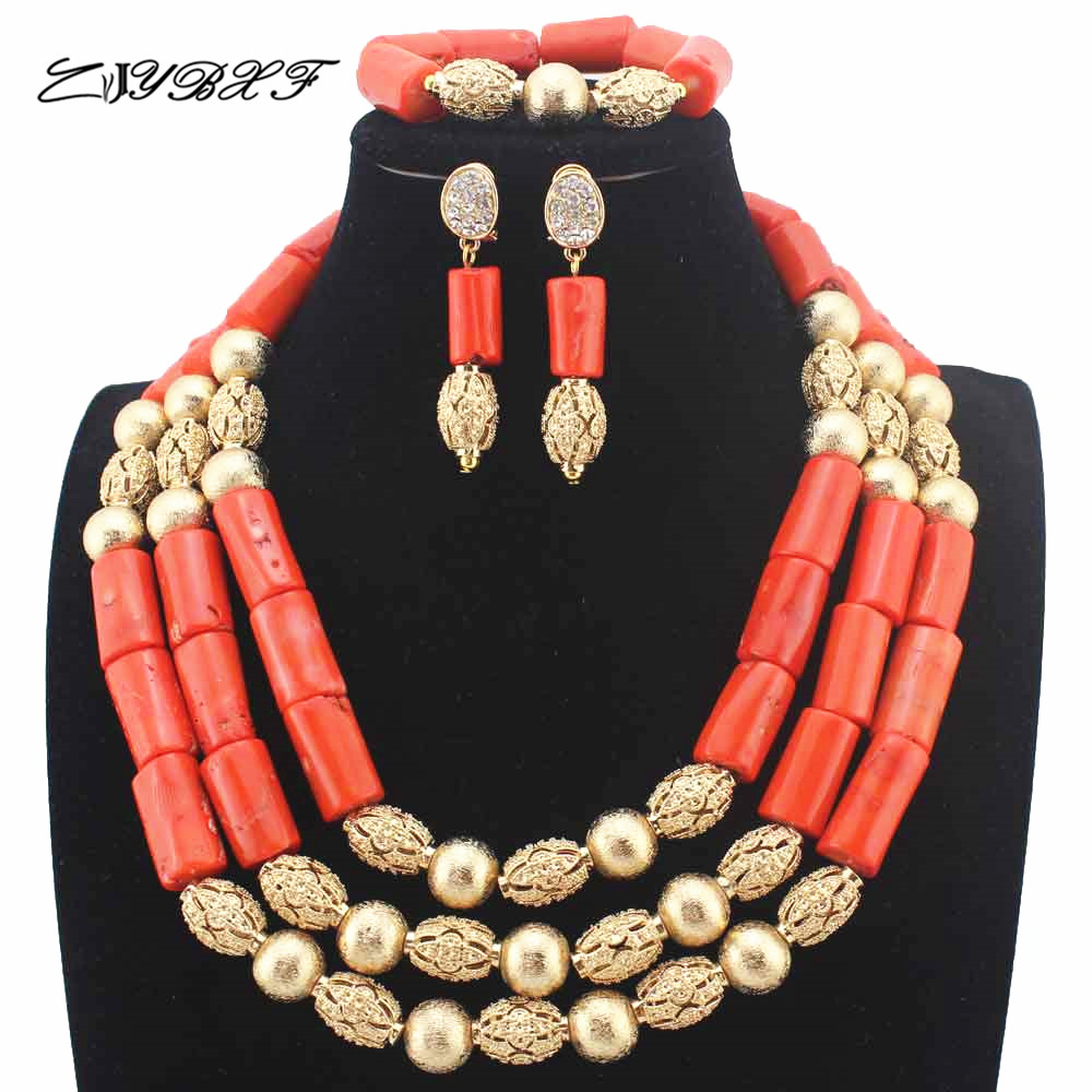 Здесь продается  New African Coral Beads Nigerian Handmade Jewelry Set Coral Beads Necklace Set earrings Gift Jewelry Free Shipping HD8858  Ювелирные изделия и часы