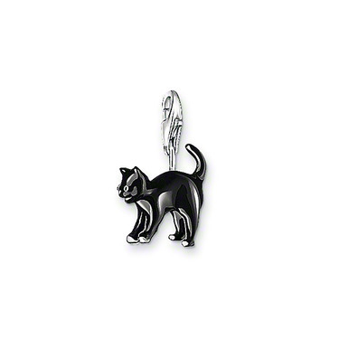 Cute Mini Black Cat Charm Pendant For Chain Type Bracelet