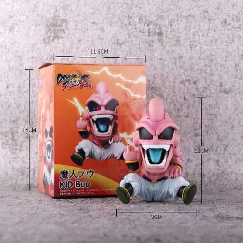 Japão Anime Figuras de Ação De Dragon Ball Z Majin Buu Super Siya Son Goku Brinquedos GK Crianças Modelos de Animação Brinquedos Presentes figura