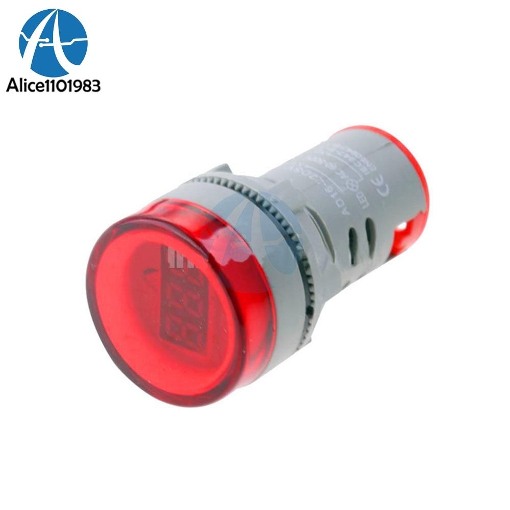 Optoelectronic Displays Electronic Components & Supplies Reasonable Red Color 22mm Led Digital Display Gauge Volt Voltmeter Voltage Meter Indicator Pilot Light T90 Ac 60v-500v 0-50a Sales Of Quality Assurance