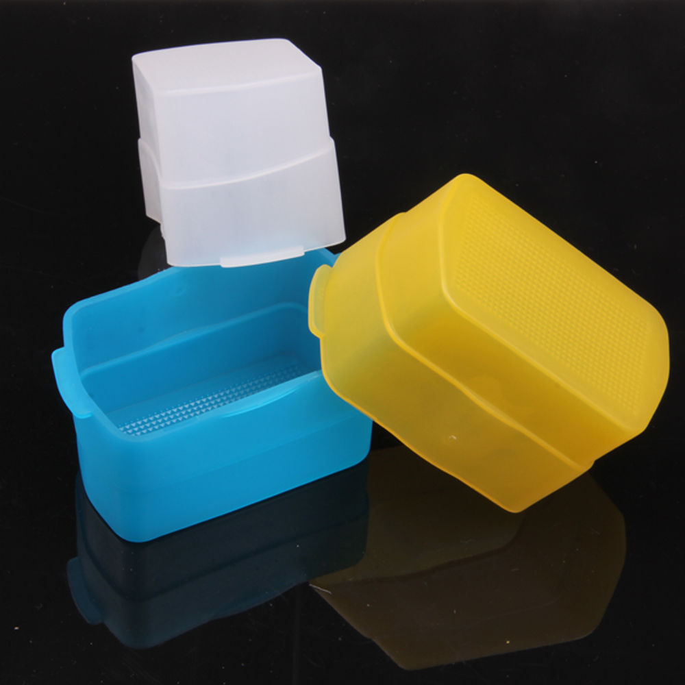 3 colours Blue Yellow White Flash Diffuser for Canon 580EX 580EX II YN-560 YN-568 YN565 JY680A Godox TT685 V850II V860 TT520II