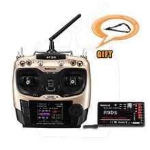 Envío libre radiolink at9s 2.4 ghz 10ch at9 transmisor actualización con r9ds dsss y fhss receptor para drone rc barco multicopter de