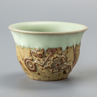 Exquisite Tea cup Handmade Ceramics High Quality Drinkware Celadon China KungFu Tea Sets Porcelain Teacup D045