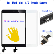Touch Screen for iPad Mini 1 A1432 A1454 A1455 Digitizer 2 A1489 A1490 A1491 Front Glass Sensor + IC Home Button