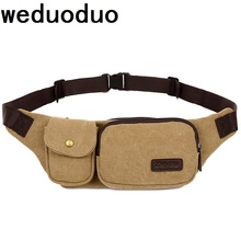 Weduoduo New Men Canvas Waist Pack Casual Bum Hip Bag Belt Phone Bag Case High Quality Fanny Pack For Women Men Travel Waist Bag belt bag canvas large capacity wasit pack high quality waist bag mobile phone pouch fashion fanny pack for women men sling bag