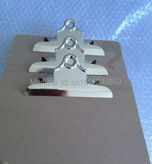 A4 MDF clipboard Փայտե ֆայլերի տեսահոլովակ տախտակի ընտրացանկի ցանկապատի հետ, թիթեռի սեղմիչ գրասենյակային պարագաներ / գրենական պիտույքներ