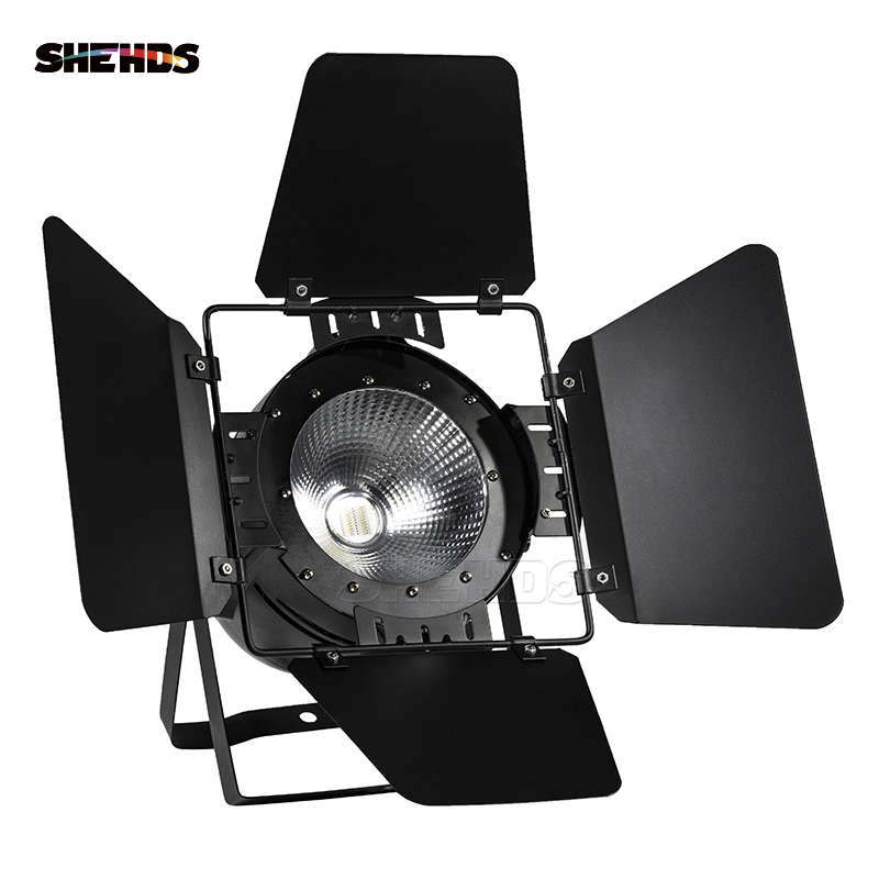 Image 3 - LED Par COB 200W With Barn Doors High Power Aluminium Case Stage Lighting With 200W COB RGBWA+UV 6in1 Cool White And Warm White-in Stage Lighting Effect from Lights & Lighting