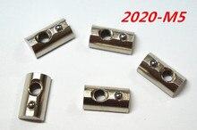 10pcs/lot M5 T Spring Nut Half Round Elasticity Spring Nut Block for 2020 Aluminium Profile(China (Mainland))