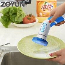 فرشاة الغسيل الكهربائية فرشاة التنظيف الكهربائية باليد الروتاري الغسيل متعددة الوظائف المطبخ طبق وعاء حمام بلاط تنظيف أداة