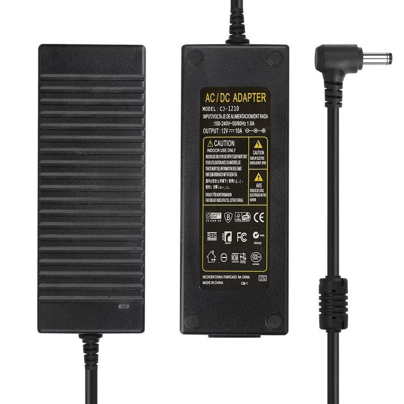 AC 100-240В к DC 12В 10А трансформатор освещения 12 вольт адаптер питания конвертер светодиодная полоса света адаптер питания зарядное устройство