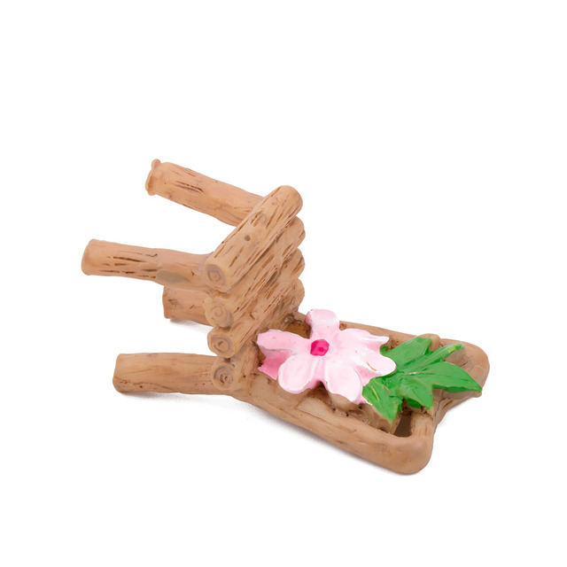 Home Micro Landscape Miniatures 3 Pcs/Set Cute Table Chair Resin Craft Ornament Fairy Garden Miniature Figurine Decoration 5