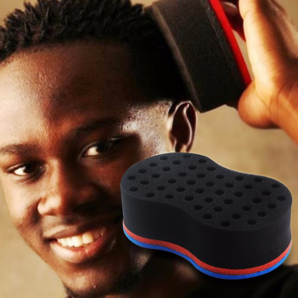 Home Appliance Parts Discreet Double Sided Barber Hair Brush Sponge Dreads Locking Twist Coil Afro Curl Wave