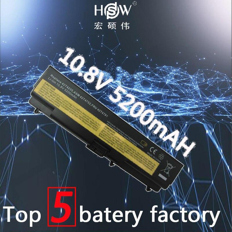 HSW Batteria del computer portatile Per Lenovo E40 E50 L410 L412 L420 L421 L510 batteria per il computer portatile L520 SL410 SL510 T410 T420 t510 T520 W510 W520