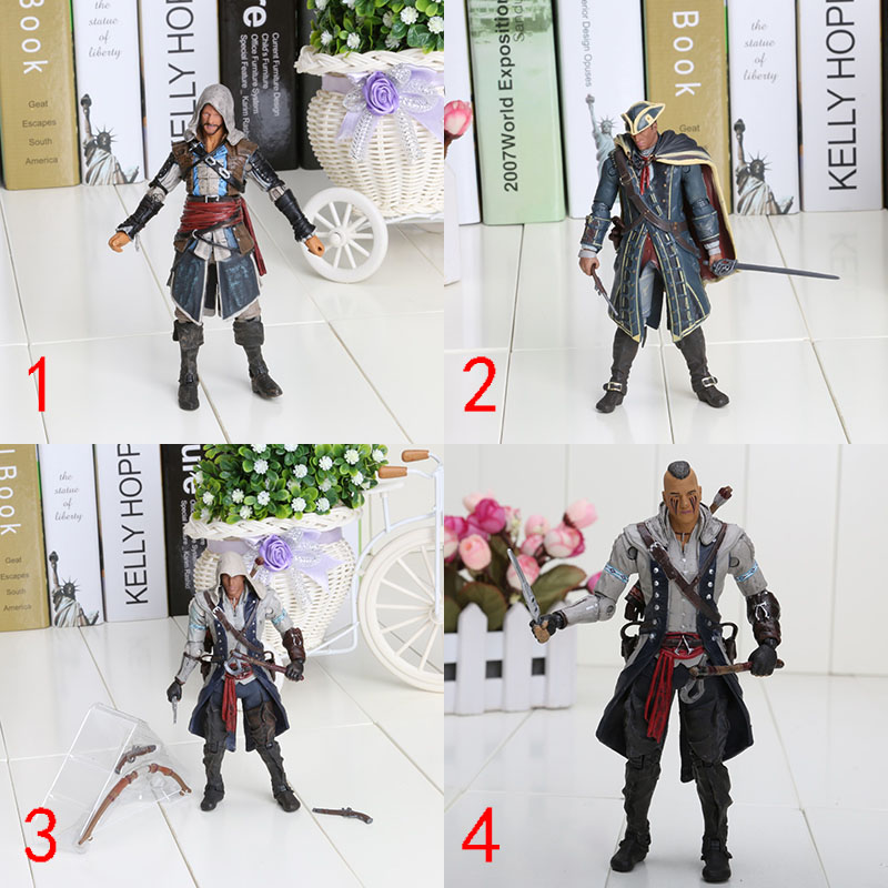 Edward Neca Iv 4 Black Flag Edward Kenway Kangna Pvc Action Figure Toy 15cm 4 Styles Best Gifts For Collect Action & Toy Figures