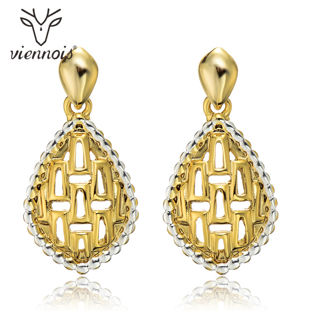 Viennois Fashion Hollow Out Mix Gold   Silver Female Egyptian Drop Earrings  Women e14e6f91ea9b