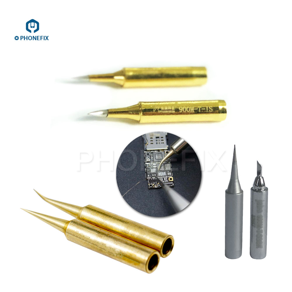PHONEFIX Precision Jumper Wire Soldering Iron Tip Sharp Angle Head For IPhone IPad Motherboard Soldering Repair
