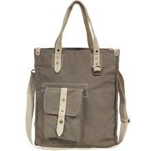 Leisure Canvas Women Ladies Bags Casual Vintage Hobo Laptop Tote Bag Business Crossbody Bags Green