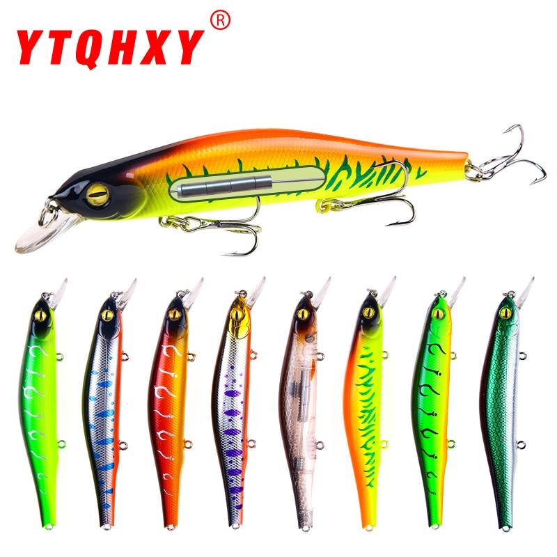 все цены на YTQHXY Fishing Lure 2018 New arrival Quality hooks 12.5cm/17.3g Topwater Artificial Bait Hard hot sale Wobbler minnow YE-88 онлайн