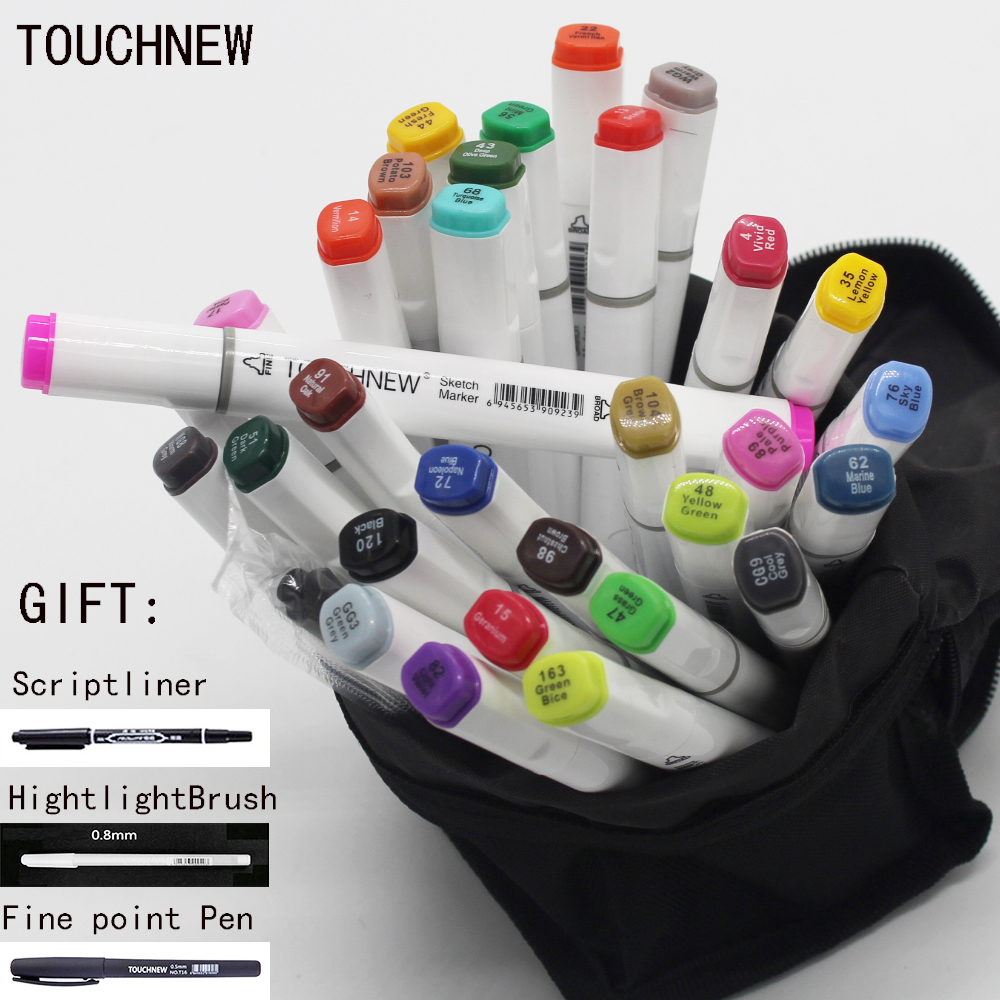 Free shipping six generations double mark pen alcohol oily hand-painted suit students 30 48 72 color fine markers manga stabilo w110145 soft head fine water mark pen 48 60 color beginners painting professional equipment advanced ink student art suit