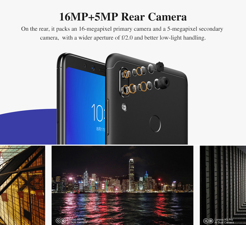 Global Version Lenovo K5 Pro 4GB 64GB Snapdragon636 Octa Core Smartphone Four Cameras 5.99inch 189  4G LTE Phones 4050mAh (4)