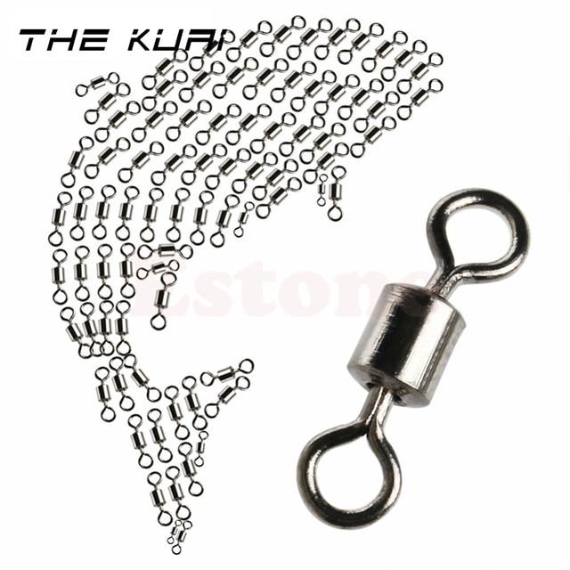 THEKUAI Fishing Swivels haczyki wędkarskie 2 #/4 #/6 #/8 #/10 #/12 #/14 # łożysko baryłkowe połączenie obrotowe Solid Ring LB przynęty