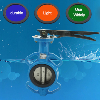 dn200 butterfly valve(Cast iron body + ordinary rubber seal + 304 stainless steel plate)