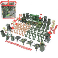 122PCS/Set 6CM High quality Military Equipment Plastic Soldier Model Toys For Boy Best Brinquedos Gift For Kids Toys Wholesale