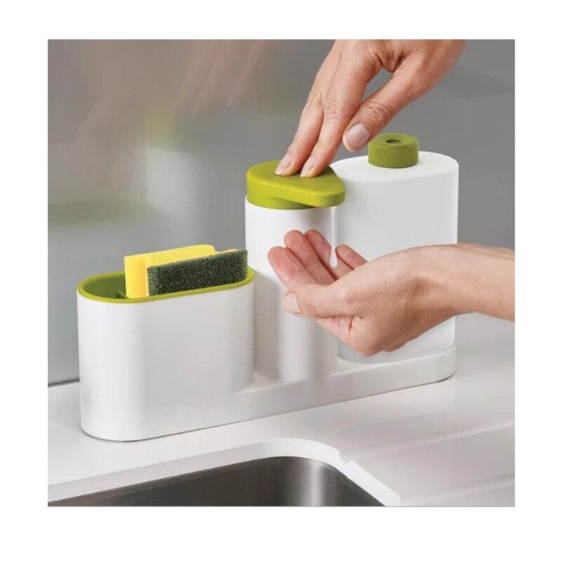 1 pcs Cuisine lavage bol éponge à magasin étagères fournitures de cuisine multifonctionnel réservoir Couleur aléatoire