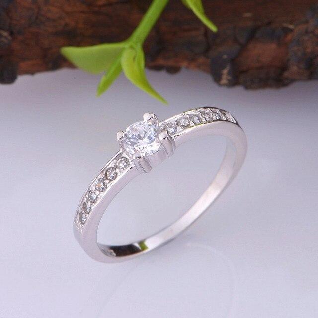 Anel feminino de dedo de noivado almei 15%, anel de diamante para casamento e noivado motociclista anel de prata feminino presente j411