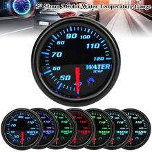 2 52mm 7 Colors LED Display Car Universal Accessories Water Temperature Gauge Meter Durable With Sensor Coolant High Accuracy
