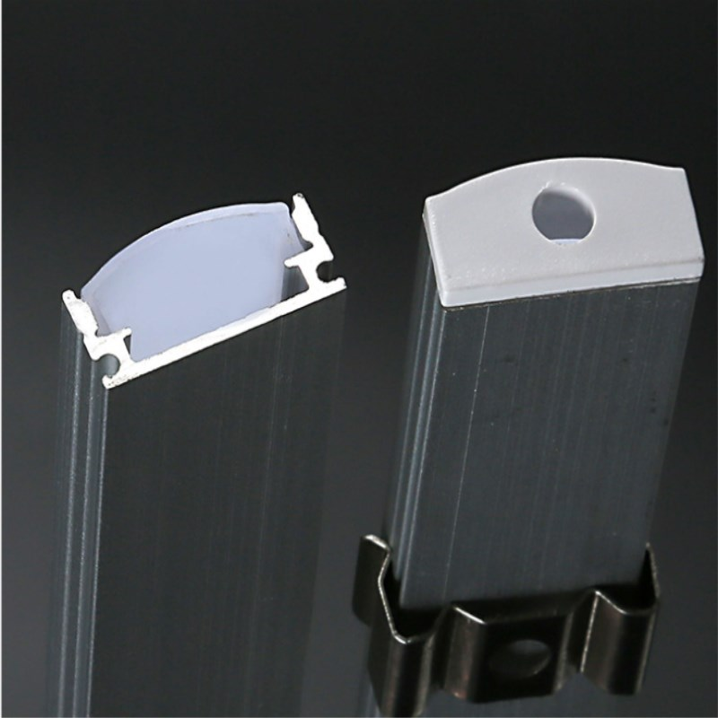 Led Strip Aluminum Profile Cover For 5050 5630 2835 4014 Led Rigid Bar Light Led Bar Housing Aluminum Channel Cover End Cap Clip